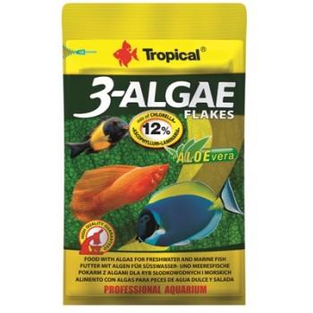 Tropical / Тропикал 771617/85910 Корм для пресноводных и морских рыб с водорослями 3-Algae Flakes (хлопья) 12гр