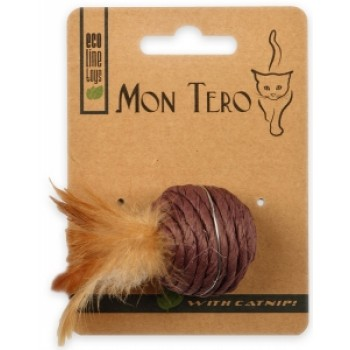 """Mon Tero / Мон Теро ЭКО игрушка для кошек """"Шар"""", 5 см, с кошач. мятой, фиолетовый"""