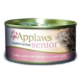 Applaws / Эпплаус Кусочки в желе для Пожилых кошек с Тунцом и Лососем 0,07 кг