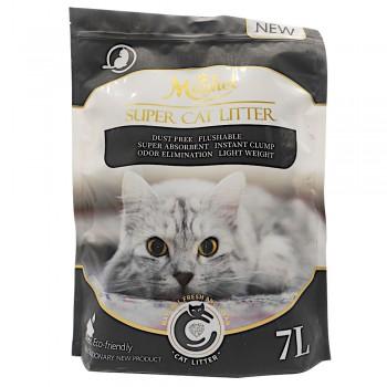 Magnet Наполнитель комкующийся, растительный Super Cat Litter, Activated Carbon 7 л