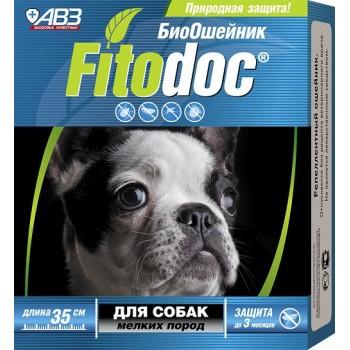 АВЗ ФИТОДОК ошейник для мелких собак репеллентный био от блох до 3 месяцев и клещей до 5 недель на основе эфирных масел, 35 см
