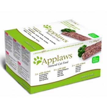 "Applaws / Эпплаус набор для кошек ""Курица, Ягненок, Лосось"": 7шт.*100г 0,7 кг"