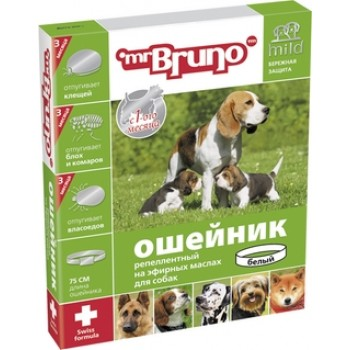 Mr.Bruno / М.Бруно Ошейник д/собак репеллентный 75см белый