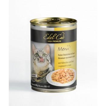 Edel Cat / Эдель Кэт нежные кусочки в соусе /курица утка/ - 0,4 кг