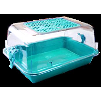 ZOOexpress Террариум малый с пласт.дверкой прозрачный 33х24х15 15011
