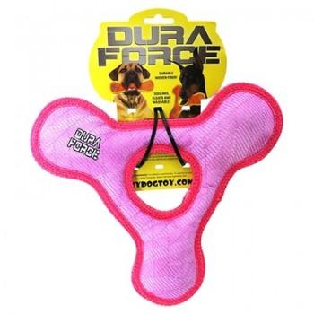 Tuffy / Таффи Супер прочная игрушка для собак Треугольник с круглым отверстием, розовый, прочность 9/10