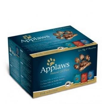 """Applaws / Эпплаус набор """"Рыбное ассорти"""" для кошек: 6 паучей*70г 0,07 кг"""
