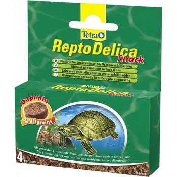 Tetra / Тетра ReptoDelica Snack корм для водных черепах с дафнией гелевый блок 4х12г