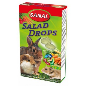 Sanal/Санал д/грызунов дропсы Салат 45гр (7300)