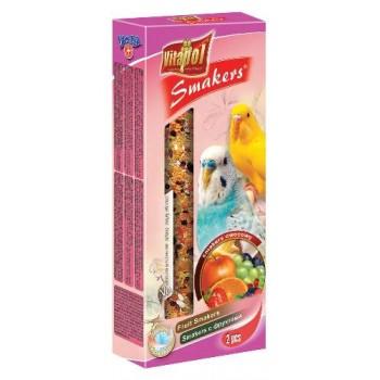Vitapol / Витапол Smakers с фруктами для волнистых попугаев