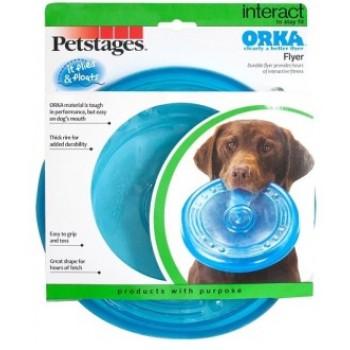 "Petstages / Петстейджес игрушка для собак ""ОРКА летающая тарелка"" 22 см"