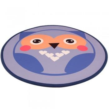 Bobo / Бобо Коврик для собак и кошек 80 см, сова, синий