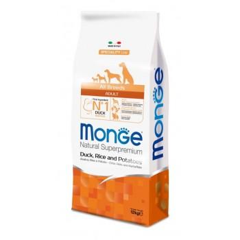 Monge / Монж Dog Speciality корм для собак всех пород утка с рисом и картофелем 12 кг