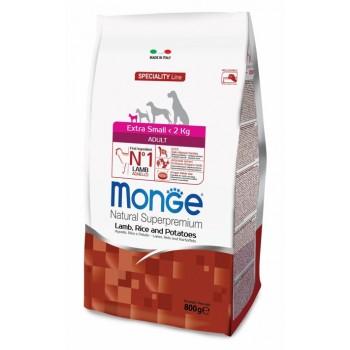 Monge / Монж Dog Speciality Extra Small корм для взрослых собак миниатюрных пород ягненок с рисом и картофелем 800г