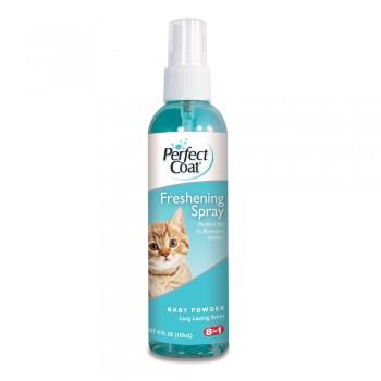 8in1 средство для кошек PC Freshening Spray спрей против спутывания шерсти с ароматом детской присыпки 118 мл