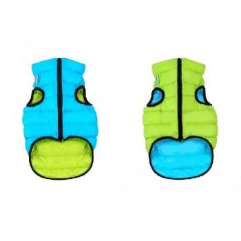 AiryVest / ЭйриВест курточка двухсторонняя, размер S 35, салатово-голубая