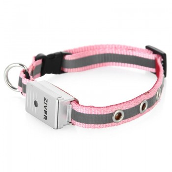 Ziver / Зивер 402 Ошейник светящийся со светосенсором, розовый 1,2х30см