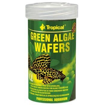 Tropical / Тропикал 664230/85922 корм для травоядных рыб растительный (чипсы) Green Algae Wafers 100мл/45гр
