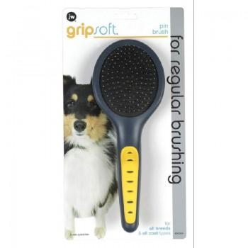 JW Щетка для собак, массажная с облитыми кончиками, большая Grip Soft Pin Brush (65004)