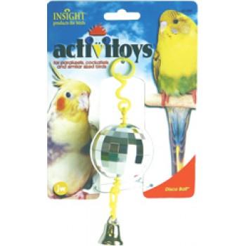 JW Игрушка д/птиц - Зеркальный шар с колокольчиком, пластик, Disco Ball Toy for birds (31059)