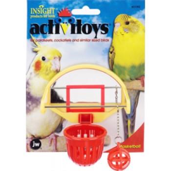 JW Игрушка д/птиц - Птичий баскетбол, пластик Activitoys Birdie Basketball (31092)