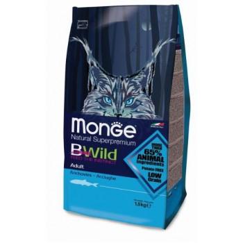 Monge / Монж BWild Cat Anchovies корм для взрослых кошек с анчоусами 1,5 кг