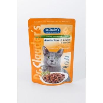 Dr.Clauder's / Др.Клаудер'c кон.д/кошек Кролик/печень 100гр
