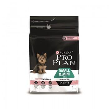 """Pro Plan / Про План """"Puppy Small Sensitive"""" сухой для щенков Мелких и Карликовых Пород с чувствительной кожей Лосось с Рисом 3 кг"""