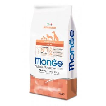 Monge / Монж Dog Speciality корм для собак всех пород лосось с рисом 12 кг
