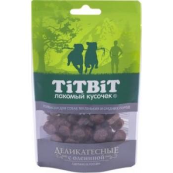 TitBit / ТитБит Колбаски Деликатесные с олениной для собак маленьких и средних пород 40 г