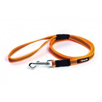 Gripalle / Грипэлле 18-150B 4190 Поводок нейлоновый прорезиненный для собак, стальная фурнитура 18 мм*150 см, Оранжевый