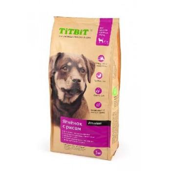 TitBit / ТитБит Корм сухой для щенков крупных пород ягненок с рисом 3 кг