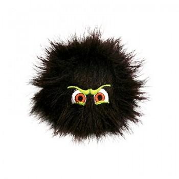 Silly Squeakers Игрушка-пищалка для собак Пушистый мяч с глазами средний, черный (iBall Medium Black) SS-IB-M-BL