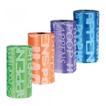 Trixie / Трикси 22840 Пакеты для уборки за собаками, 3л, 4 рулона по 20 шт, цветные, для всех диспенсеров