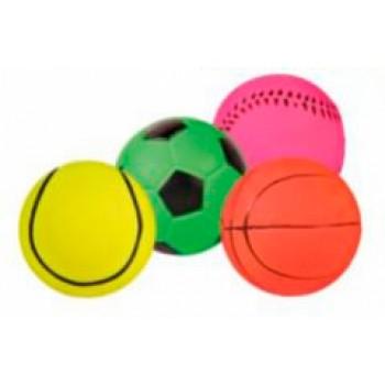 Trixie / Трикси Набор мячиков, ворсо-резина ф4см+ф4,5см*52шт 3460