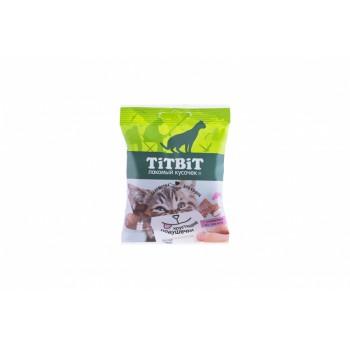 TitBit / ТитБит Хрустящие подушечки для кошек с паштетом из лосося 30 г