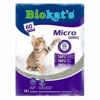"""Biokat's / БиоКэтс наполнитель """"Биокат'с микро"""" д/туалета д/кошек, 7 л"""