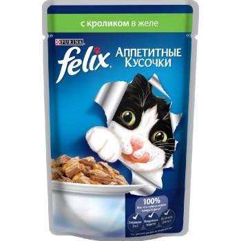 Felix / Феликс для кошек Кролик аппетитные кусочки в желе 85 гр