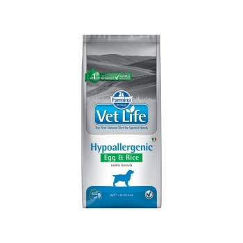 Farmina / Фармина Vet Life HIPO Egg & Rice Диета д/собак яйцо и рис при пищевой аллергии и пищевой непереносимости 12кг (25425)