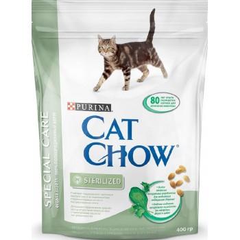 """Cat Chow / Кэт Чоу """"Special Care"""" сухой 400 гр для кошек Кастрированных и Стерилизованных"""