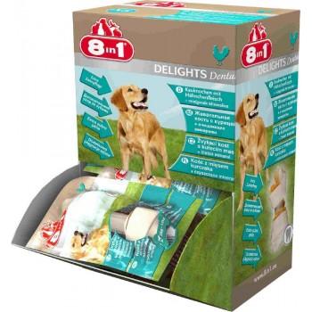 8in1 Dental Delights XS косточки с куриным мясом для мелких собак с минералами (30 шт., коробка)
