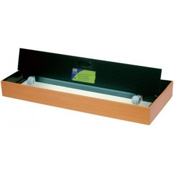 Juwel / Ювель светильник с рамкой и крышками Multilux II 100х40см бук 2x45W T5