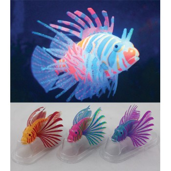 Jelly-Fish / Джелли-Фиш Рыба-лев цветная силиконовая, светящаяся в темноте, маленькая, 10*8*2,5 см
