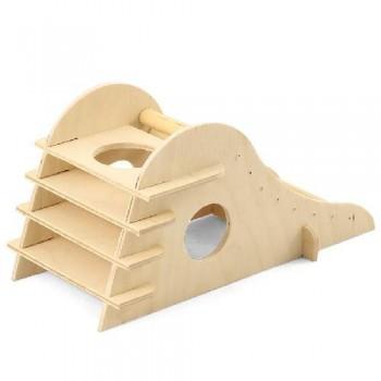 Gamma / Гамма Домик-горка для мелких животных деревянный, 210*105*105мм