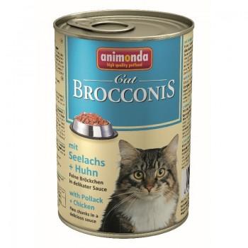 Animonda Cat Brocconis конс. 400 г с сайдой и курицей для взрослых кошек 83379