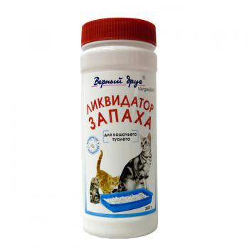 Верный друг Ликвидатор запаха для кошачьих туалетов (порошок) (1х26)