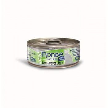 Monge / Монж Cat Natural консервы для кошек тихоокеанский тунец с курицей 80г