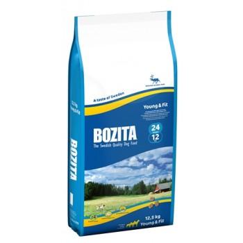 Bozita / Бозита Young&Fit 24/12 сух.корм д/собак с Нормальным и повышенным уровнем активности Олень 12,5кг
