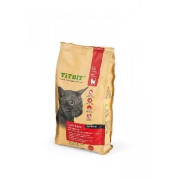 TitBit / ТитБит Корм сухой для взрослых активных кошек от 1 до 7 лет с мясом Цыпленка 1,5 кг