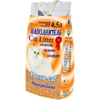 Наполнитель Пусси-Кет минеральный (желтый) 4,5л